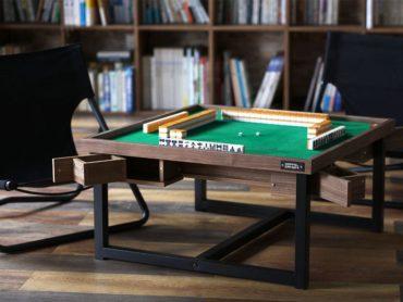 おしゃれなテーブルが麻雀卓に変身!?<SECRET MAHJONG TABLE(シークレット麻雀テーブル)>