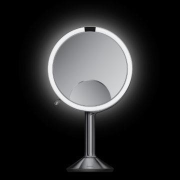ライトと3種類の拡大率で顔をハッキリと映し出す<センサーミラートリオ>